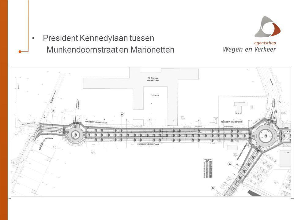 President Kennedylaan tussen