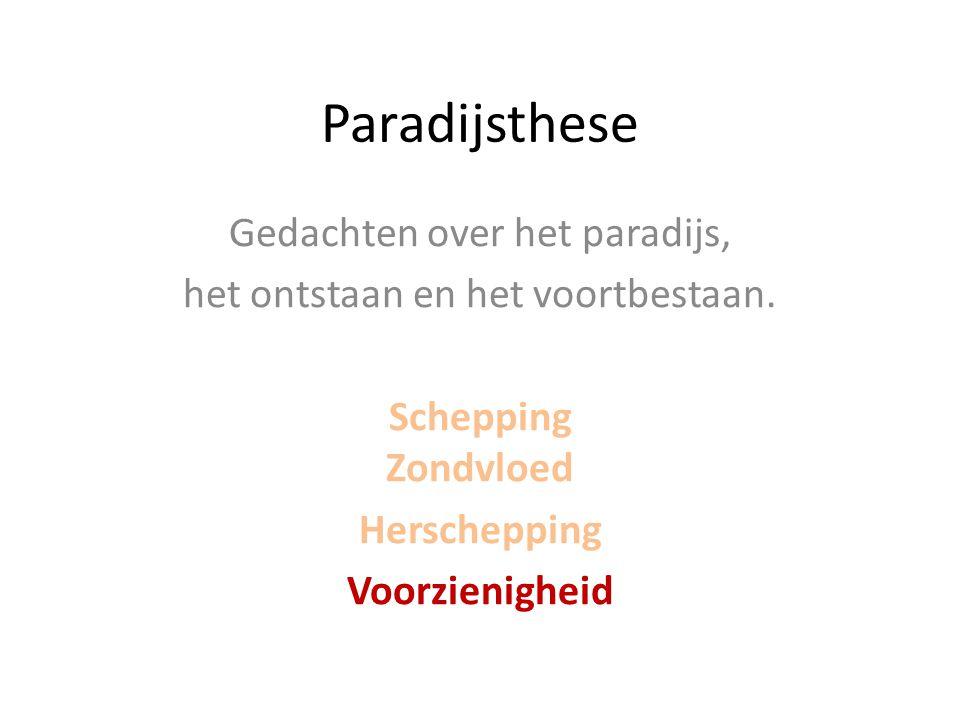Paradijsthese Gedachten over het paradijs,