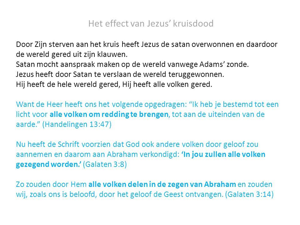 Het effect van Jezus' kruisdood