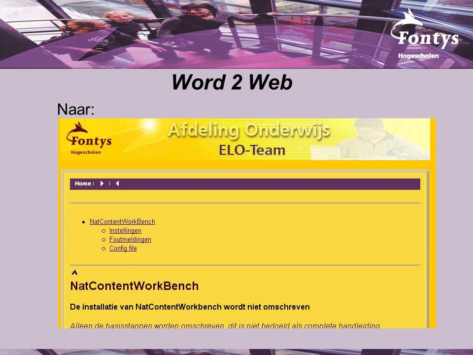 Word 2 Web Naar: