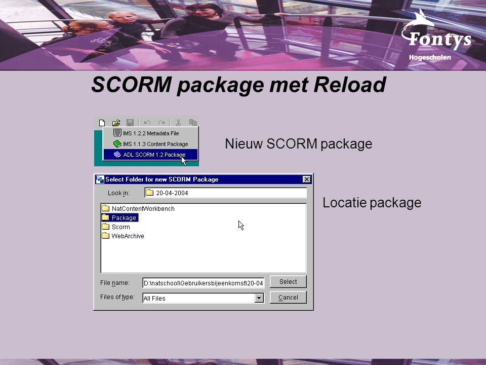 SCORM package met Reload