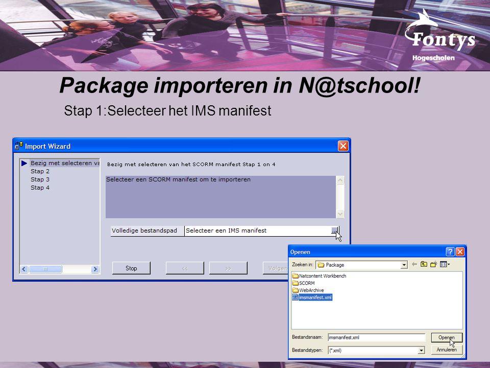 Package importeren in N@tschool!