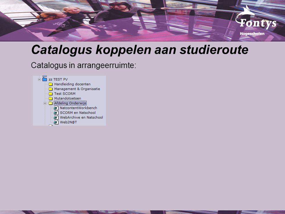 Catalogus koppelen aan studieroute