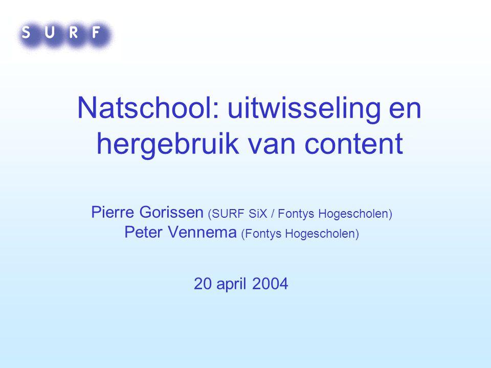 Natschool: uitwisseling en hergebruik van content