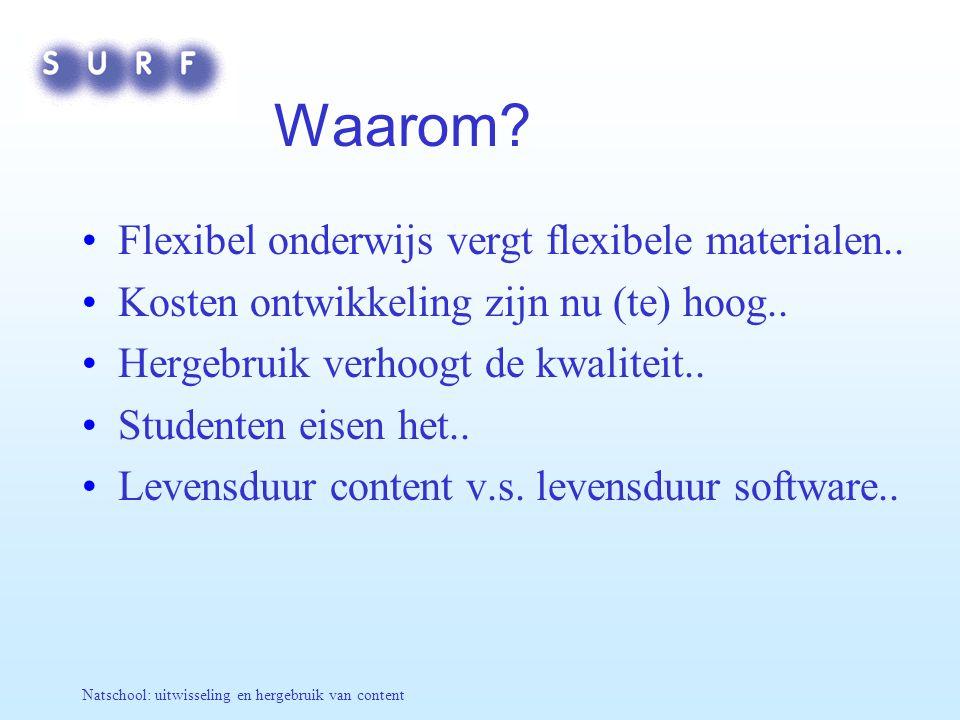 Waarom Flexibel onderwijs vergt flexibele materialen..