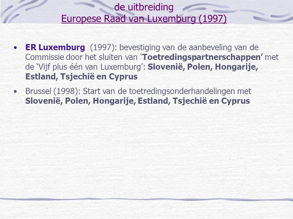 de uitbreiding Europese Raad van Luxemburg (1997)