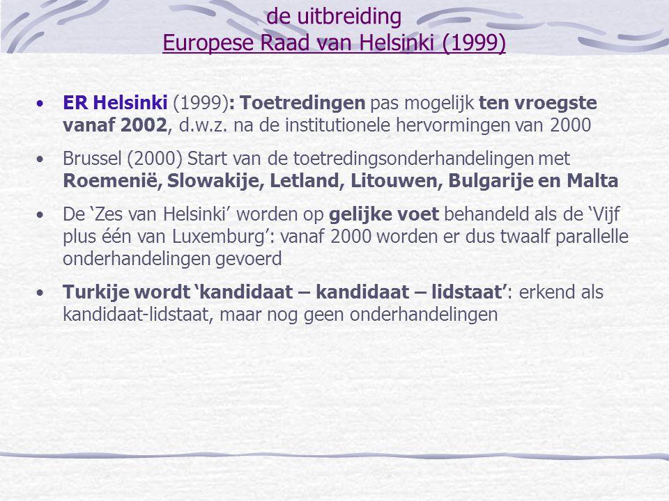 de uitbreiding Europese Raad van Helsinki (1999)