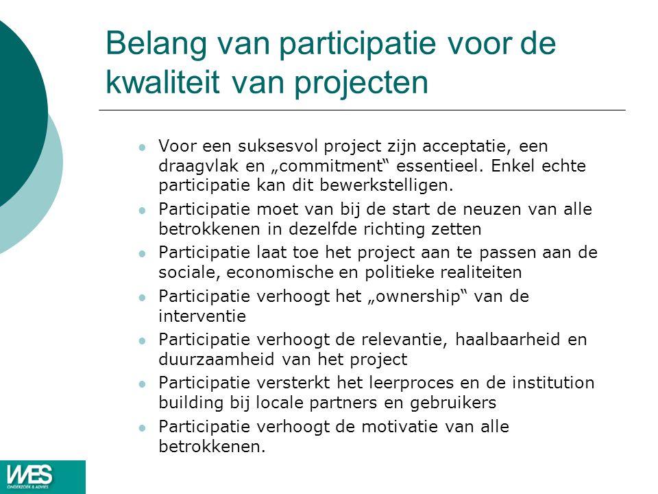 Belang van participatie voor de kwaliteit van projecten