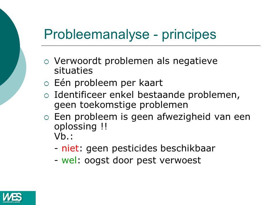 Probleemanalyse - principes
