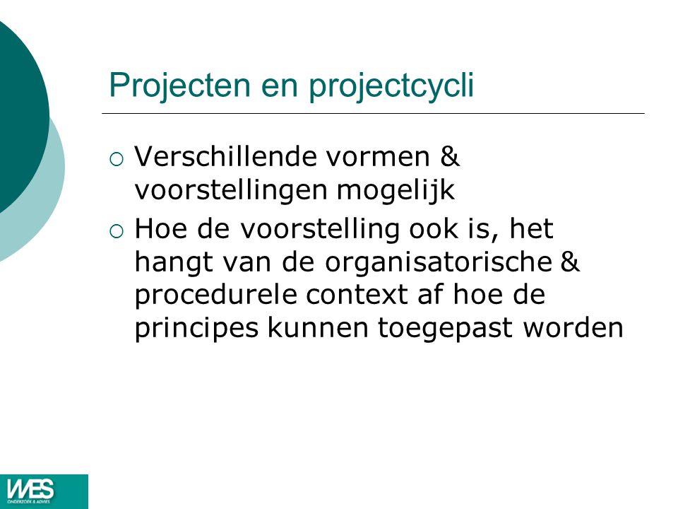 Projecten en projectcycli