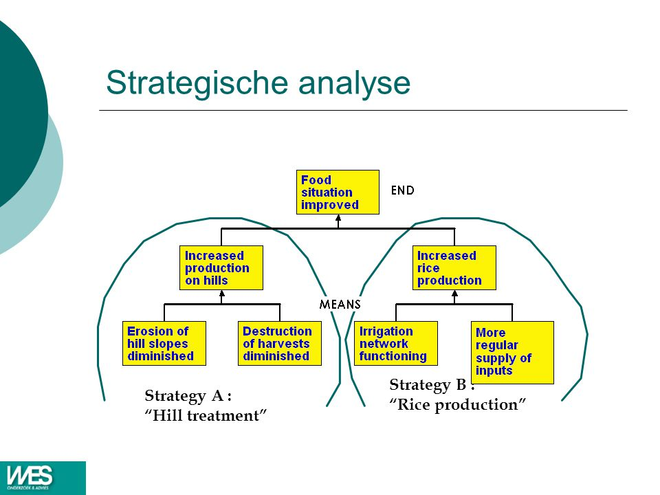 Strategische analyse Strategy B : Strategy A : Rice production