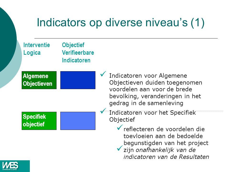 Indicators op diverse niveau's (1)