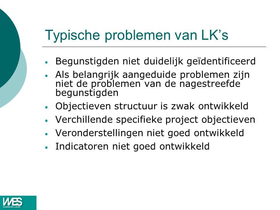 Typische problemen van LK's