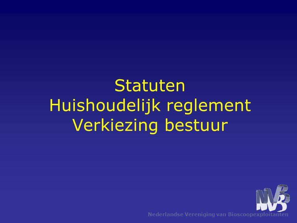 Statuten Huishoudelijk reglement Verkiezing bestuur
