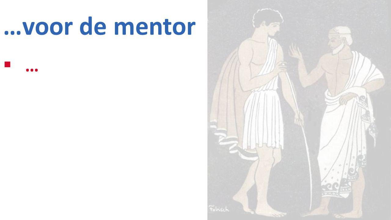 …voor de mentor …
