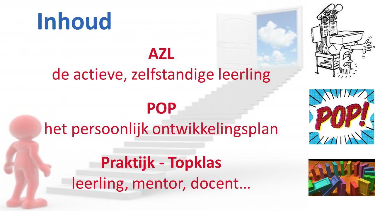 Inhoud AZL de actieve, zelfstandige leerling POP