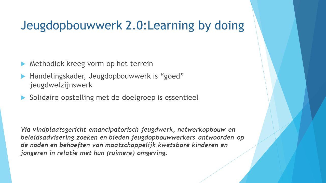 Jeugdopbouwwerk 2.0:Learning by doing