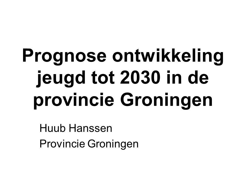 Prognose ontwikkeling jeugd tot 2030 in de provincie Groningen