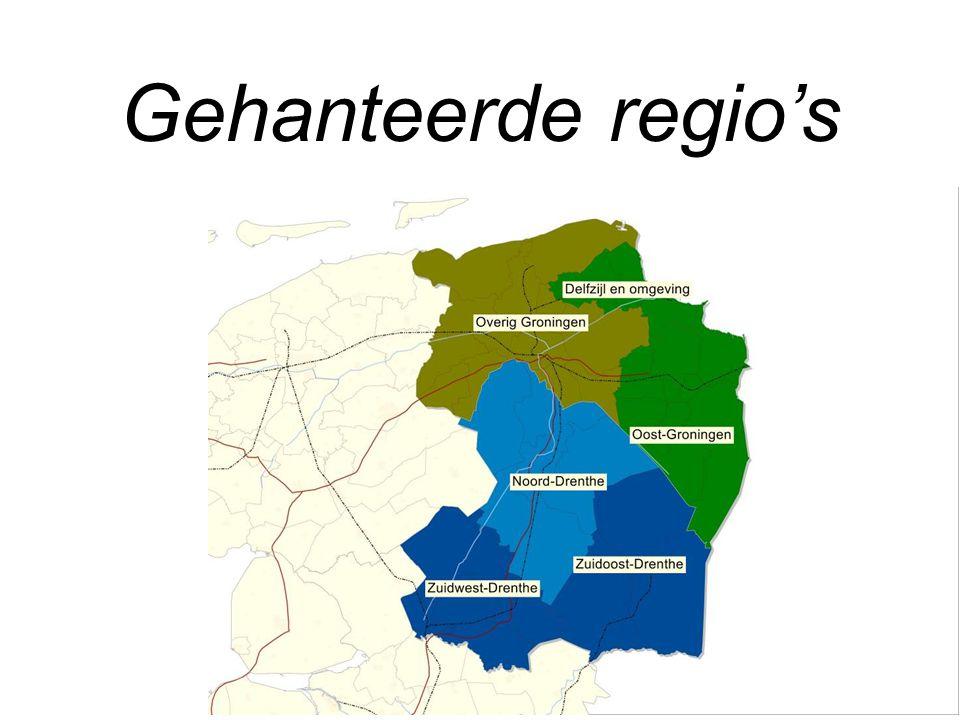 Gehanteerde regio's