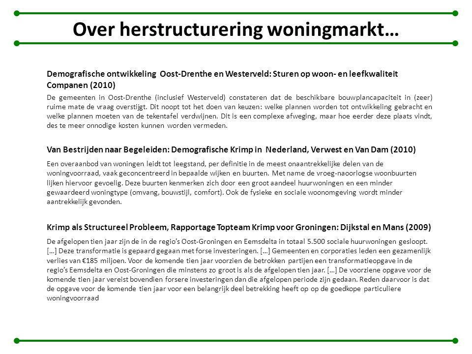 Over herstructurering woningmarkt…