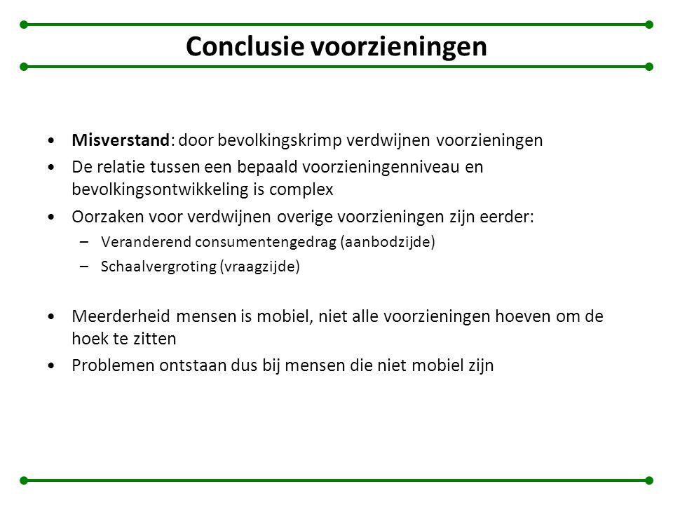 Conclusie voorzieningen