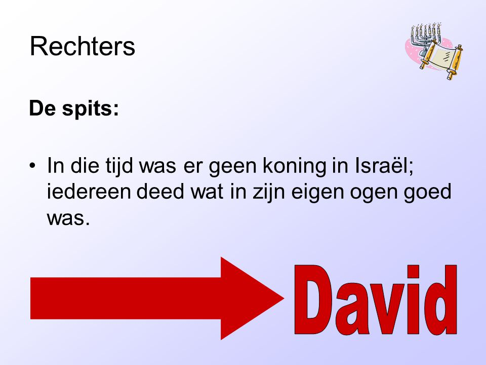 Rechters David De spits: