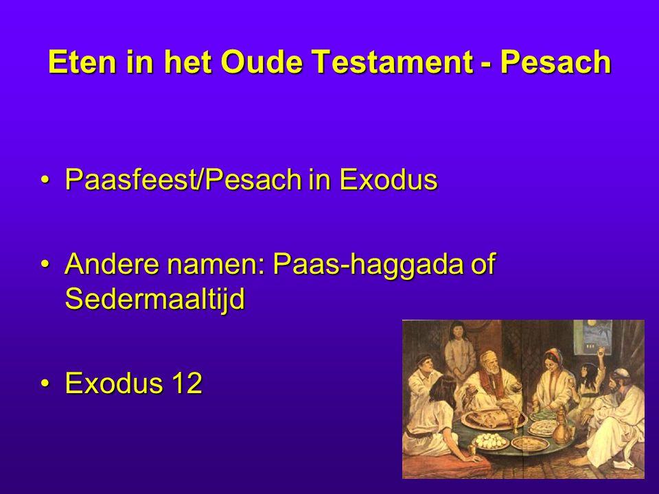 Eten in het Oude Testament - Pesach