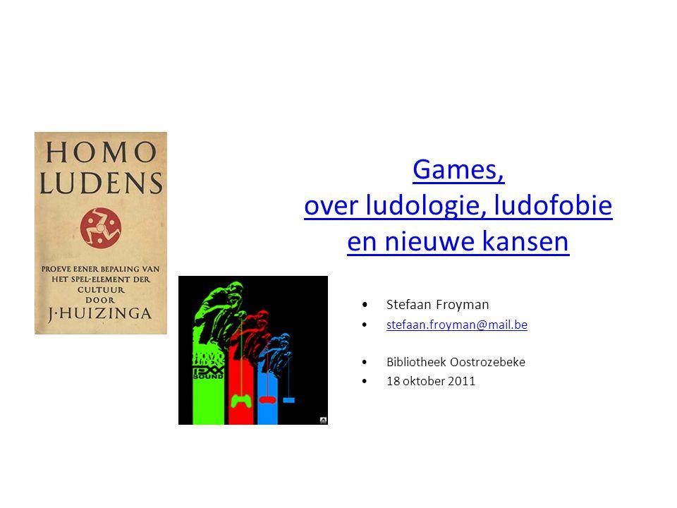 Games, over ludologie, ludofobie en nieuwe kansen