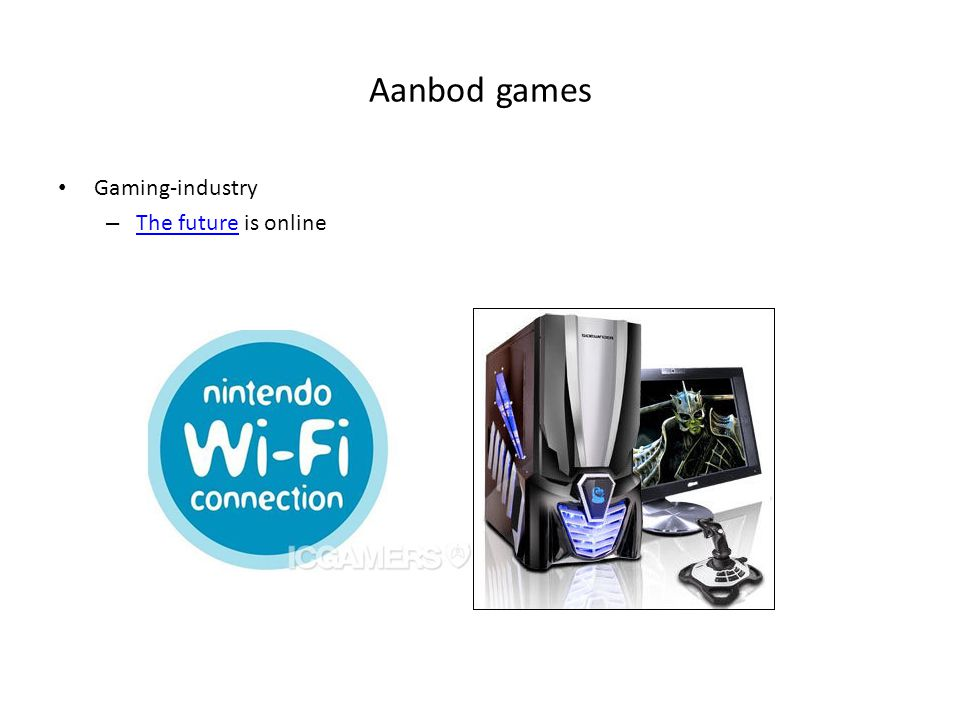 Aanbod games Gaming-industry The future is online