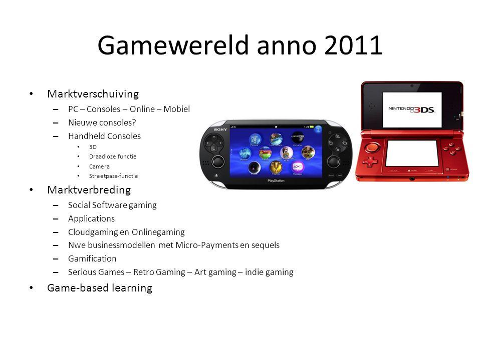 Gamewereld anno 2011 Marktverschuiving Marktverbreding