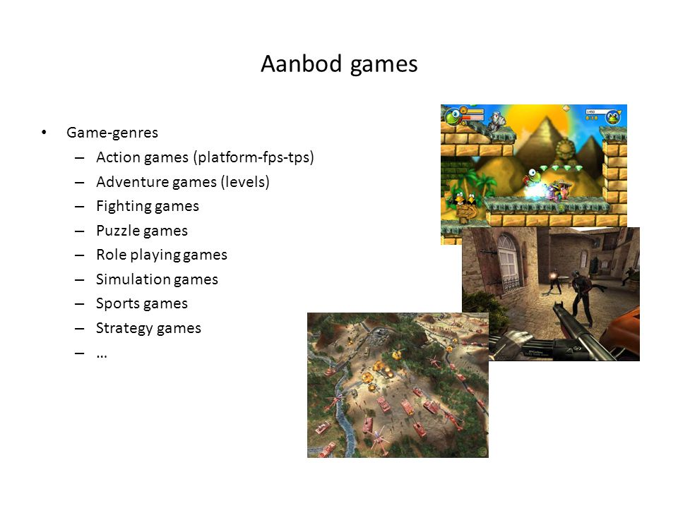 Aanbod games Game-genres Action games (platform-fps-tps)