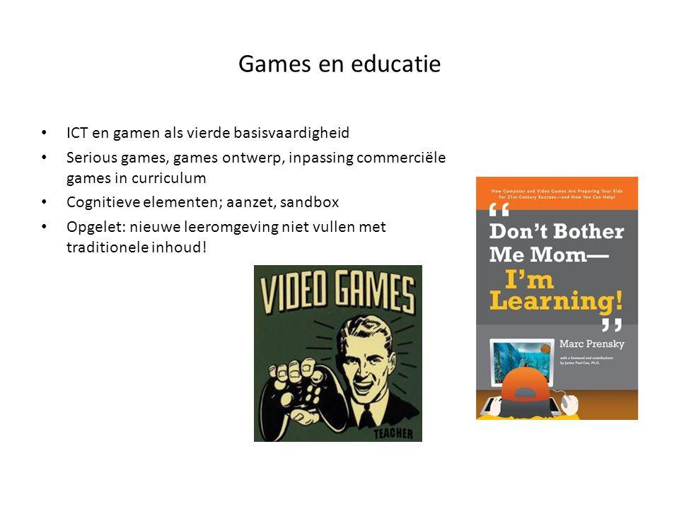 Games en educatie ICT en gamen als vierde basisvaardigheid