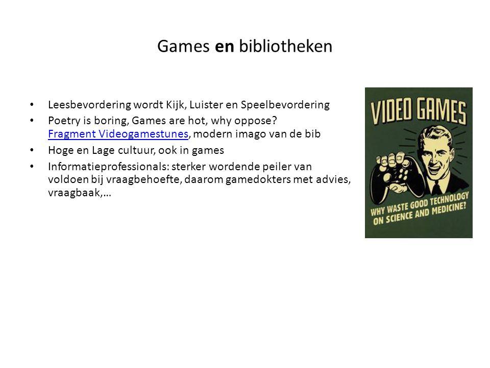Games en bibliotheken Leesbevordering wordt Kijk, Luister en Speelbevordering.