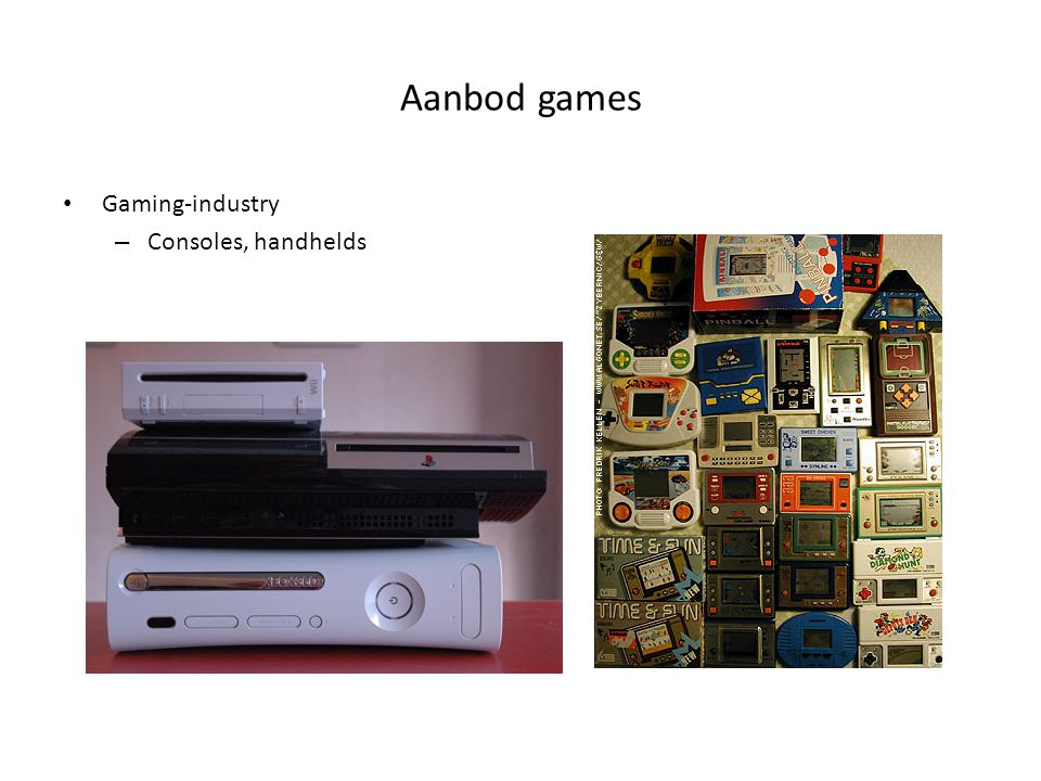 Aanbod games Gaming-industry Consoles, handhelds