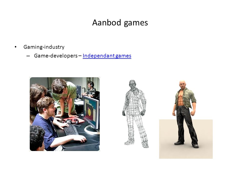 Aanbod games Gaming-industry Game-developers – Independant games