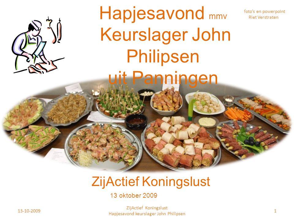 Hapjesavond mmv Keurslager John Philipsen uit Panningen