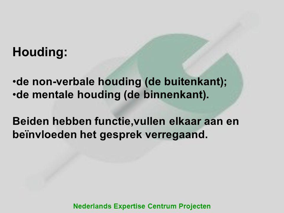 Houding: de non-verbale houding (de buitenkant);