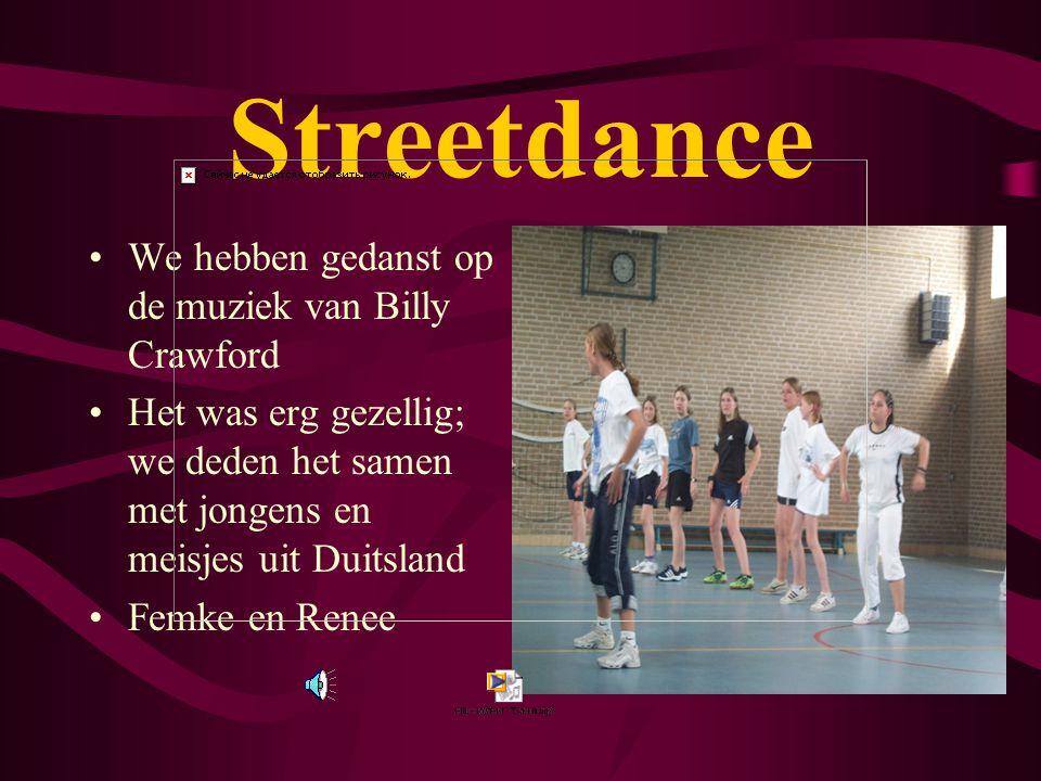 Streetdance We hebben gedanst op de muziek van Billy Crawford