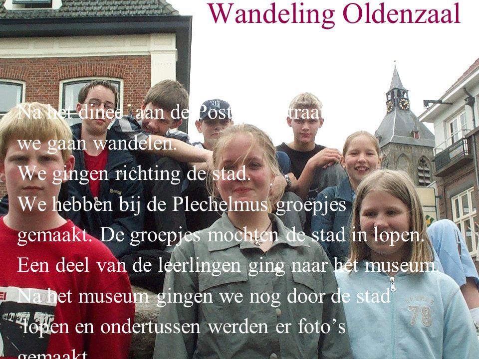 Wandeling Oldenzaal Na het dinee aan de Postkampstraat zijn