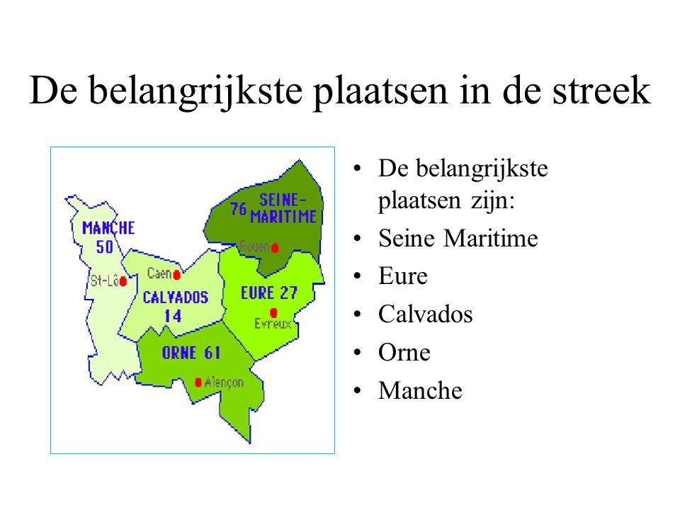 De belangrijkste plaatsen in de streek