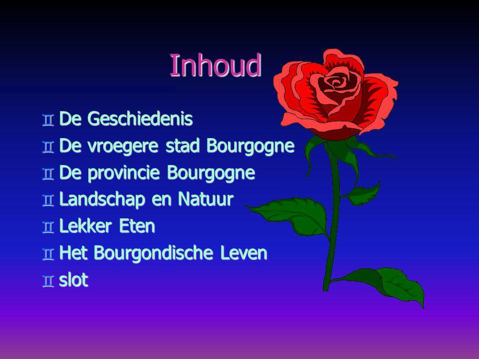 Inhoud De Geschiedenis De vroegere stad Bourgogne
