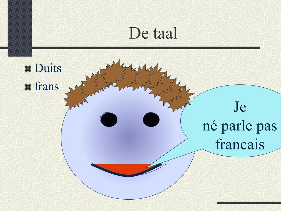 De taal Duits frans Je né parle pas francais