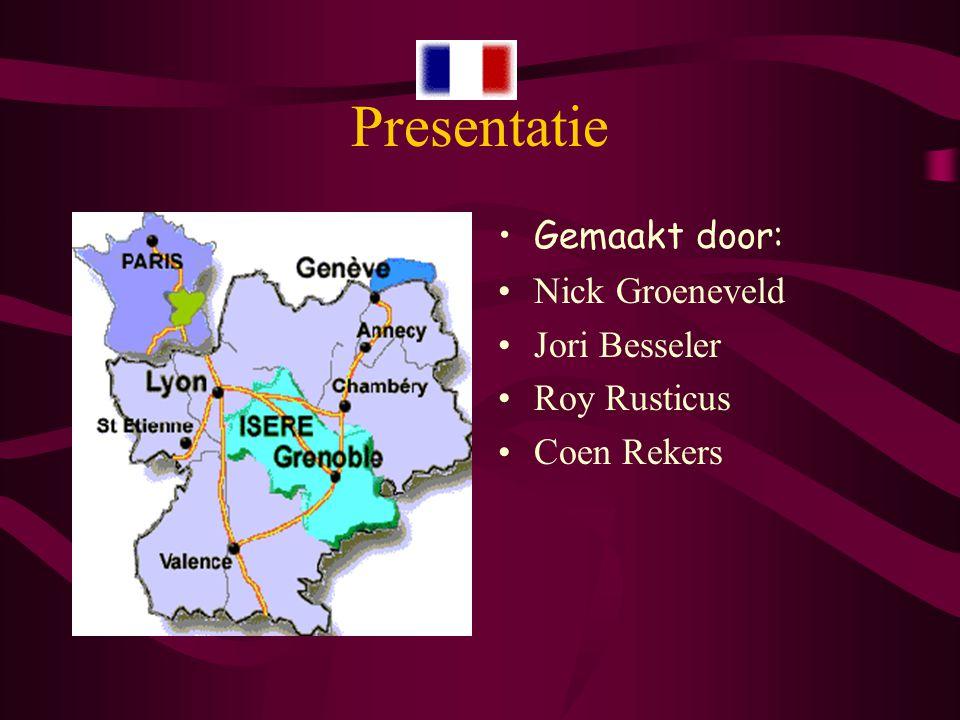 Presentatie Gemaakt door: Nick Groeneveld Jori Besseler Roy Rusticus