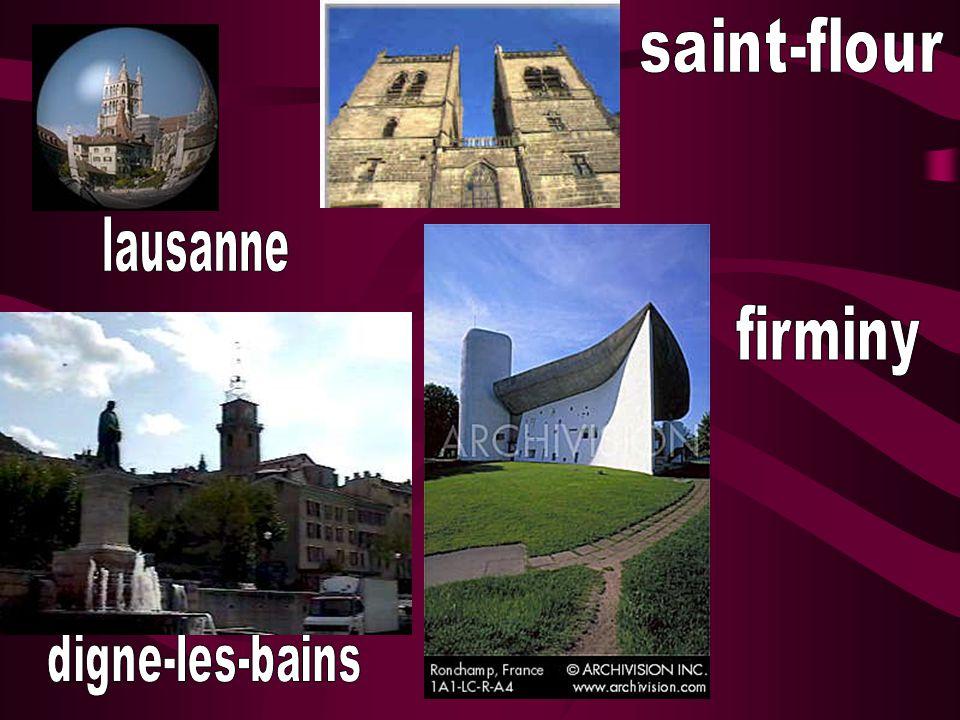 saint-flour lausanne firminy digne-les-bains