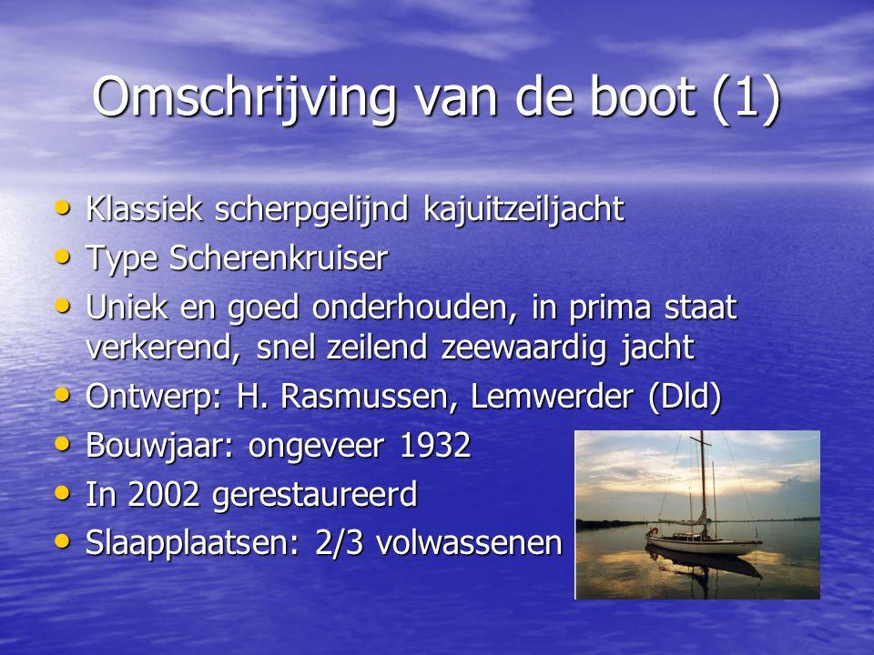 Omschrijving van de boot (1)