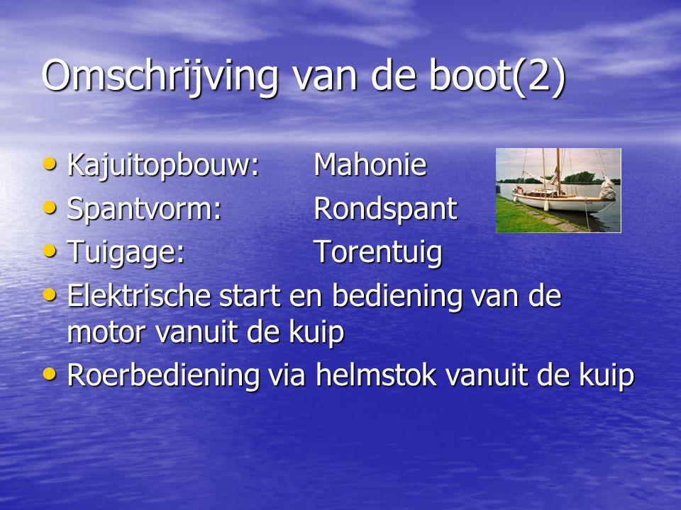 Omschrijving van de boot(2)