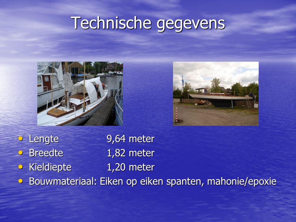 Technische gegevens Lengte 9,64 meter Breedte 1,82 meter
