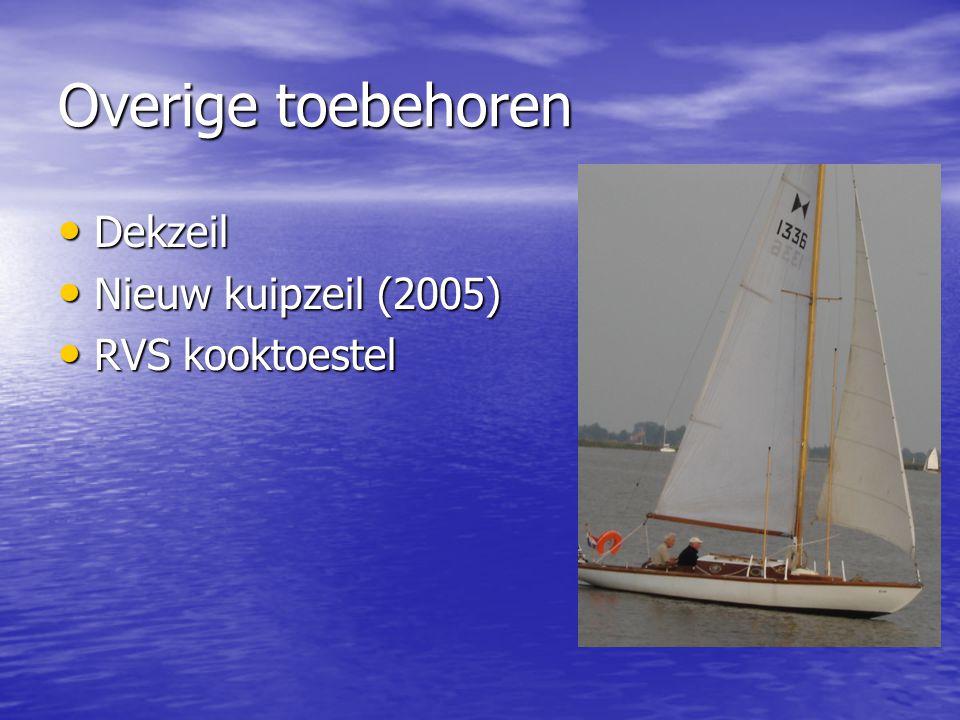 Overige toebehoren Dekzeil Nieuw kuipzeil (2005) RVS kooktoestel