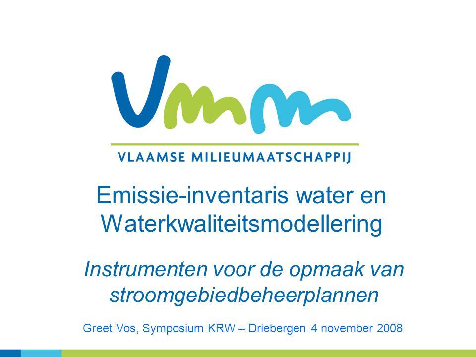 Emissie-inventaris water en Waterkwaliteitsmodellering