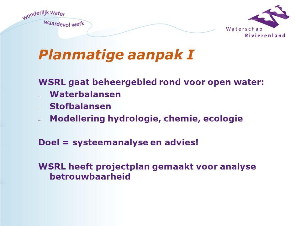 Planmatige aanpak I WSRL gaat beheergebied rond voor open water: